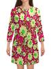 """Платье с рукавами """"Цветочки"""" - лето, цветы, весна, цветные, цветочки"""