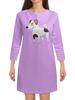 """Платье с рукавами """"ДЖЕК РАССЕЛ.СОБАКА"""" - майкл джексон, щенок, собака, животное, рассел"""