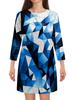 """Платье с рукавами """"Цветные стекла"""" - абстракция, цветные, кубики, квадраты, стекла"""