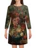 """Платье с рукавами """"Цветы (Ян ван Хёйсум)"""" - картина, живопись, ян ван хёйсум"""