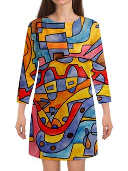 """Платье с рукавами """"MX0`]MM02Y"""" - арт, узор, абстракция, фигуры, текстура"""
