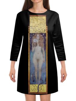 """Платье с рукавами """"Голая правда (Nuda Veritas) (Густав Климт)"""" - картина, климт, живопись"""