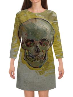 "Платье с рукавами ""Череп II (Винсент ван Гог)"" - картина, ван гог, живопись"