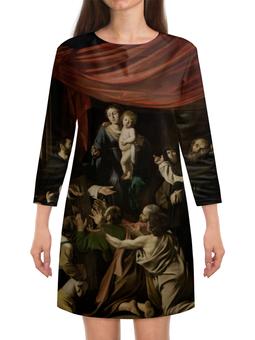 "Платье с рукавами ""Мадонна с чётками (Караваджо)"" - картина, караваджо, живопись"