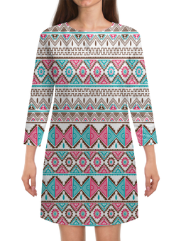 """Платье с рукавами """"Графика"""" - узор, ромбы, треугольники, абстракция, графика"""