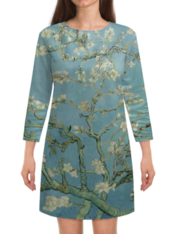 "Платье с рукавами ""Цветы миндаля (Ван Гог)"" - картина, ван гог, живопись"