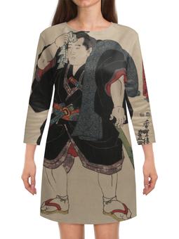 "Платье с рукавами ""Борец сумо (Утагава Кунисада)"" - картина, утагава кунисада, живопись, сумо, япония"