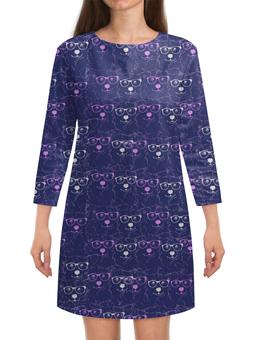 """Платье с рукавами """"Ночное небо"""" - собака, хипстер, вельшкорги, животные, корги"""