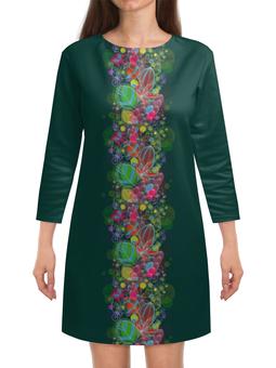 """Платье с рукавами """"Дивный лес"""" - арт, нежность, sweetspring"""