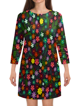 """Платье с рукавами """"Весенние цветы"""" - цветы, весна, цветочки, лето, природа"""