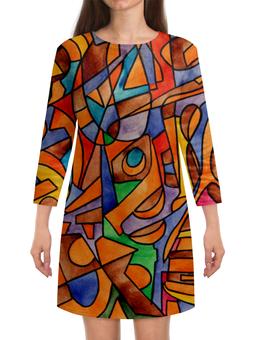 """Платье с рукавами """"W2W2`V61"""" - арт, узор, абстракция, фигуры, текстура"""