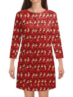 "Платье с рукавами ""Angry Birds"" - птицы, птички, мульт, angry birds, энгри бёрдз"
