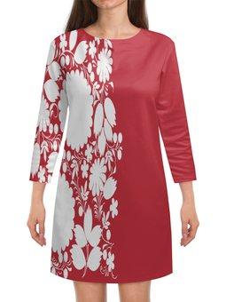 """Платье с рукавами """"Цветы"""" - весна, роспись, кружево, узор, цветы"""