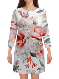 """Платье с рукавами """"Цветы"""" - цветы"""