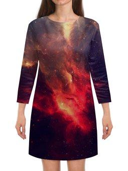 """Платье с рукавами """"Просторы Вселенной"""" - the spaceway, астрономия, наука, вселенная, космос"""