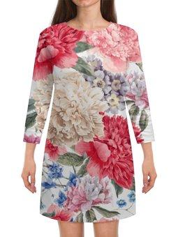 """Платье с рукавами """"Летние цветы"""" - лето, цветы"""