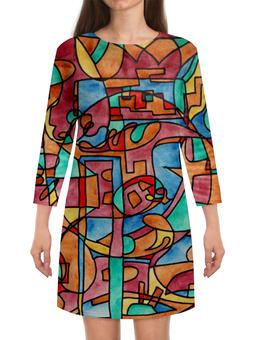 """Платье с рукавами """"SASH,EE11"""" - арт, узор, абстракция, фигуры, текстура"""