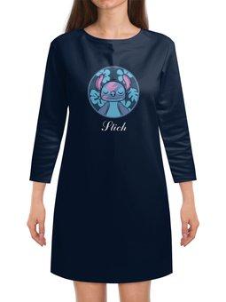 """Платье с рукавами """"Lilo & Stich (Stich)"""" - лило и стич, стич, дисней, пришелец, инопланетянин"""