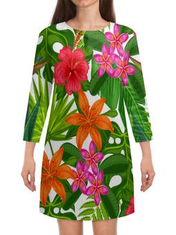 """Платье с рукавами """"Тропики"""" - лето, тропики, природа, summer, цветы"""