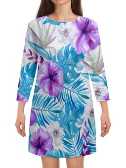 """Платье с рукавами """"Тропические цветы"""" - лето, тропики, природа, summer, цветы"""