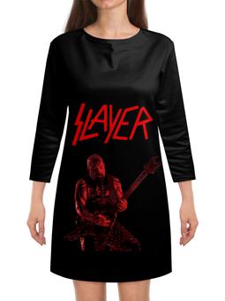 "Платье с рукавами ""Slayer"" - рок, slayer, хэви метал, хардрок, слейер"