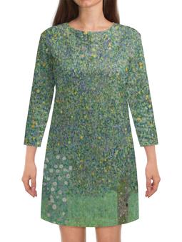 """Платье с рукавами """"Розы под деревьями (Густав Климт)"""" - картина, климт, живопись"""