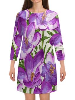 """Платье с рукавами """"Цветы"""" - лето, тропики, природа, summer, цветы"""