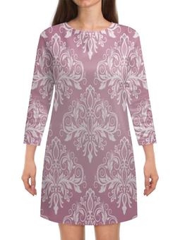 """Платье с рукавами """"Кружевной узор"""" - цветы, узор, листья, хохлома, роспись"""
