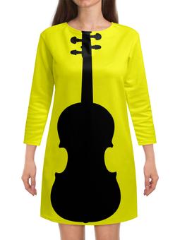 """Платье с рукавами """"Музыкальная нотка"""" - скрипка, клипарт"""