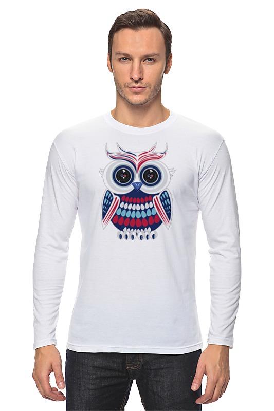 Лонгслив Printio Сова (owl) owl shape 7 colors change 3d touch night light
