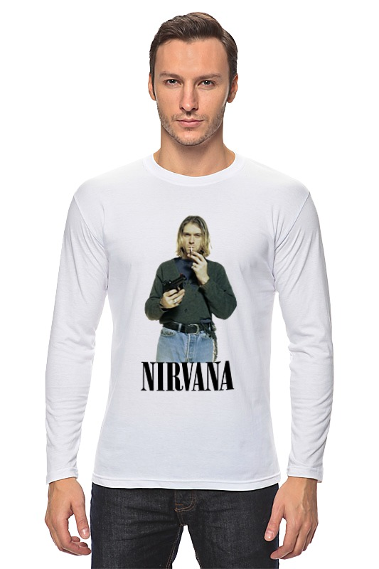 Лонгслив Printio Nirvana kurt cobain