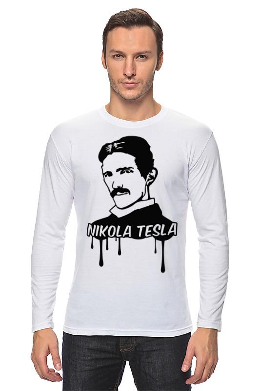 Лонгслив Printio Никола тесла свитшот мужской с полной запечаткой printio никола тесла изобретатель гений