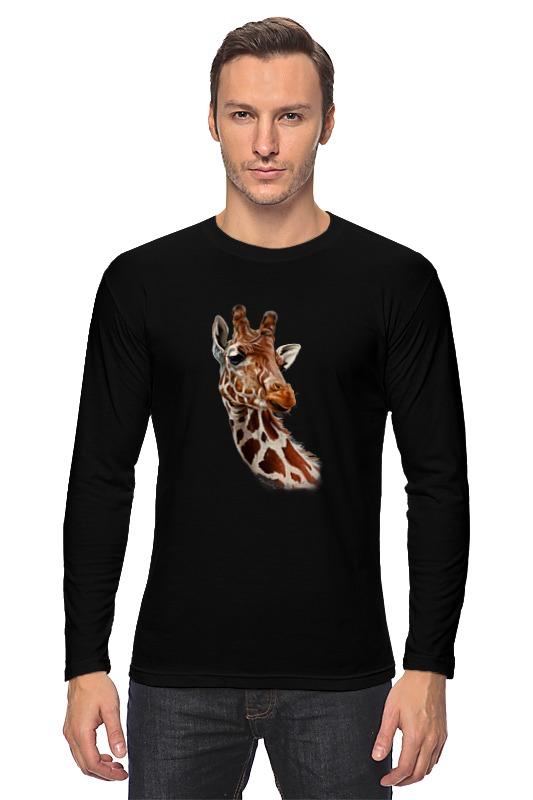 Лонгслив Printio Жирафик функциональная погремушка звонкая гантелька жирафик