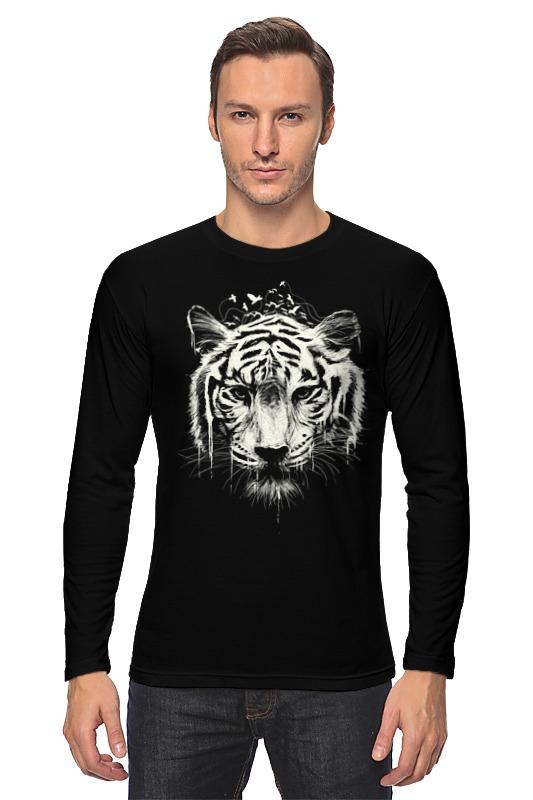 Лонгслив Printio Белый тигр
