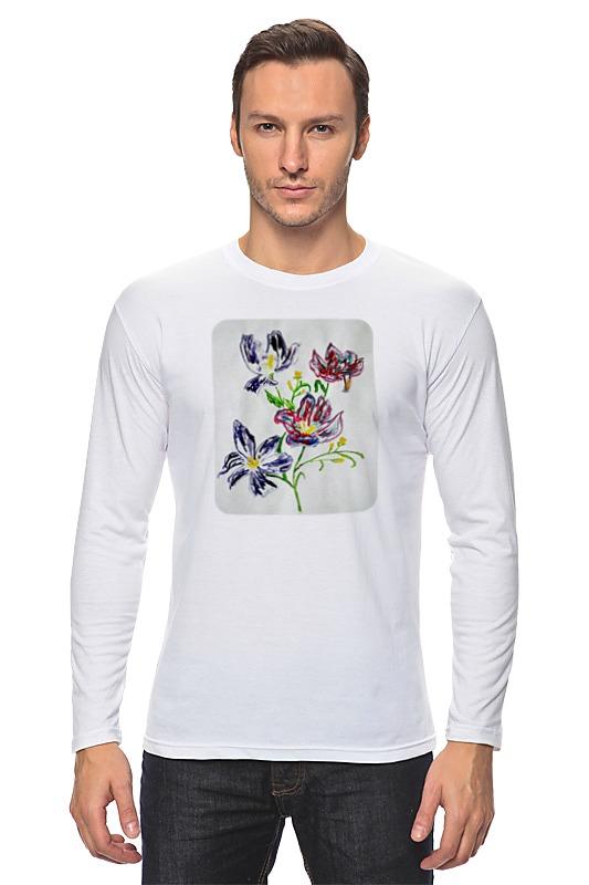 Лонгслив Printio Лиловые цветы