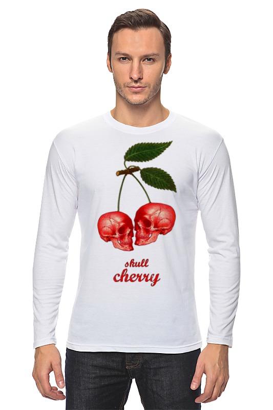 цена Лонгслив Printio skull cherry