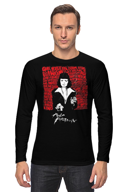Лонгслив Printio Pulp fiction black цена