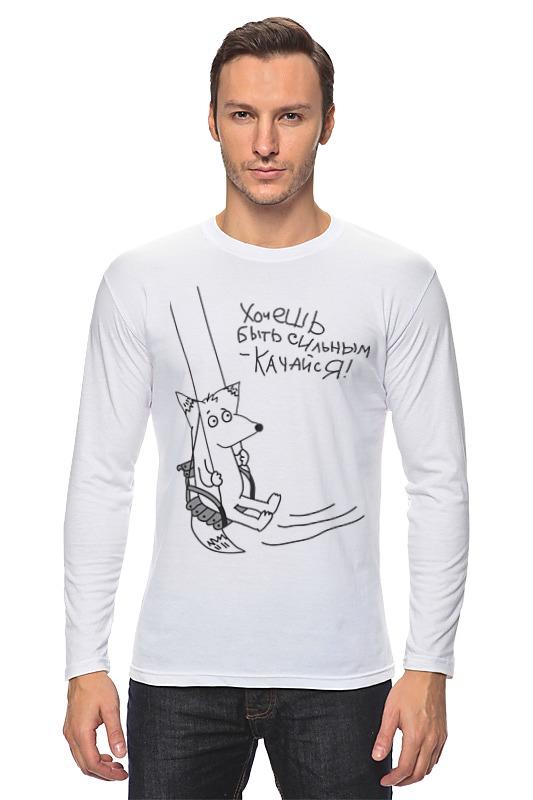 Лонгслив Printio Качайся футболка для беременных printio качайся