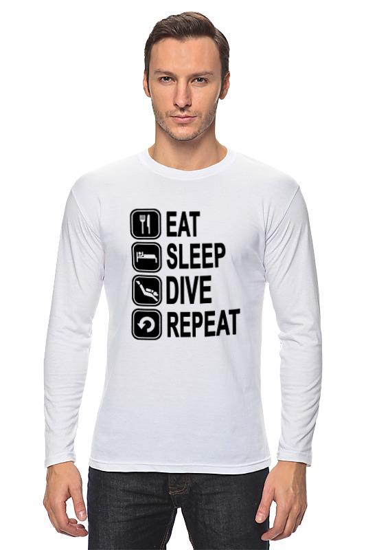 Лонгслив Printio Eat sleep dive snorkel dive