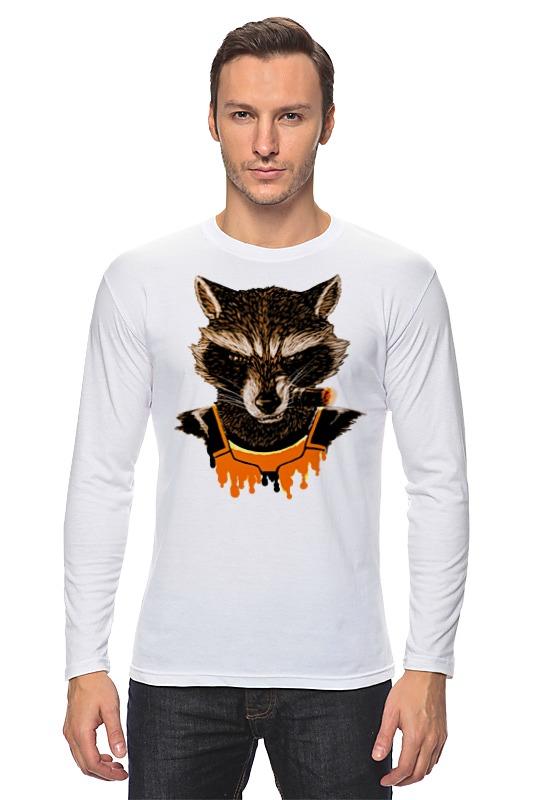 Лонгслив Printio What's a raccoon? raccoon fur hats 100