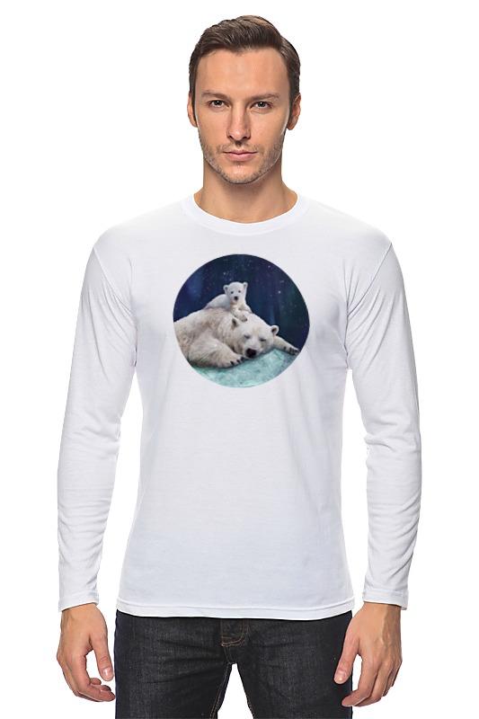 Лонгслив Printio Белые медведи