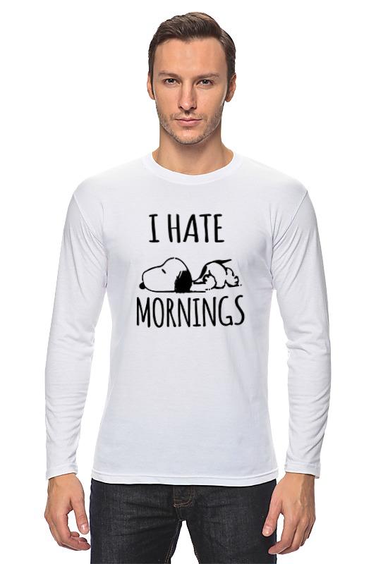 Лонгслив Printio Я ненавижу утро (i hate mornings) я ненавижу селфи издательство аст