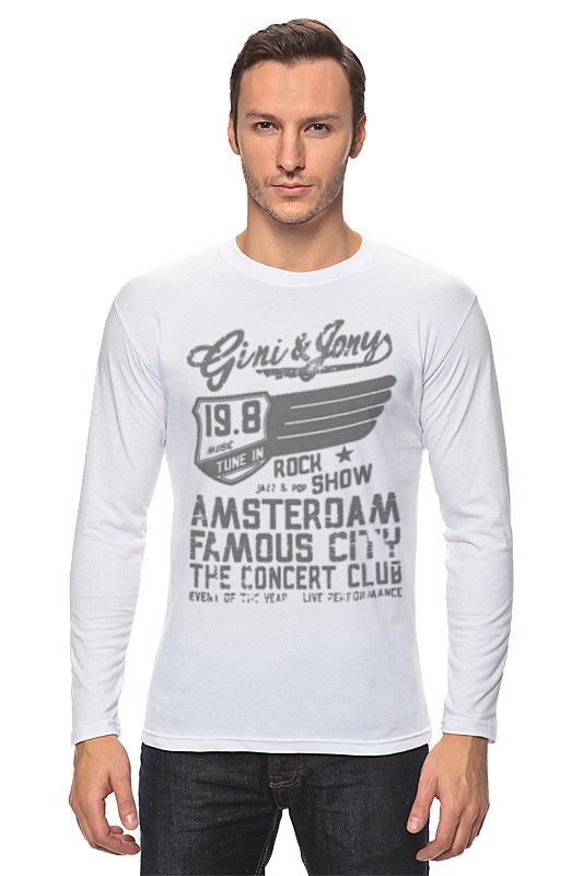 Лонгслив Printio Gini & jony boy amsterdam rock show parquet courts amsterdam