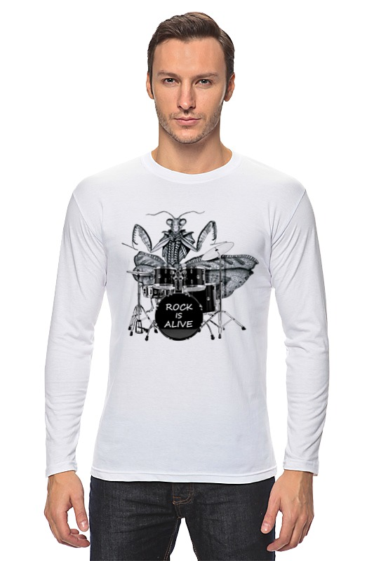 Лонгслив Printio Богомол-барабанщик богомол s e019