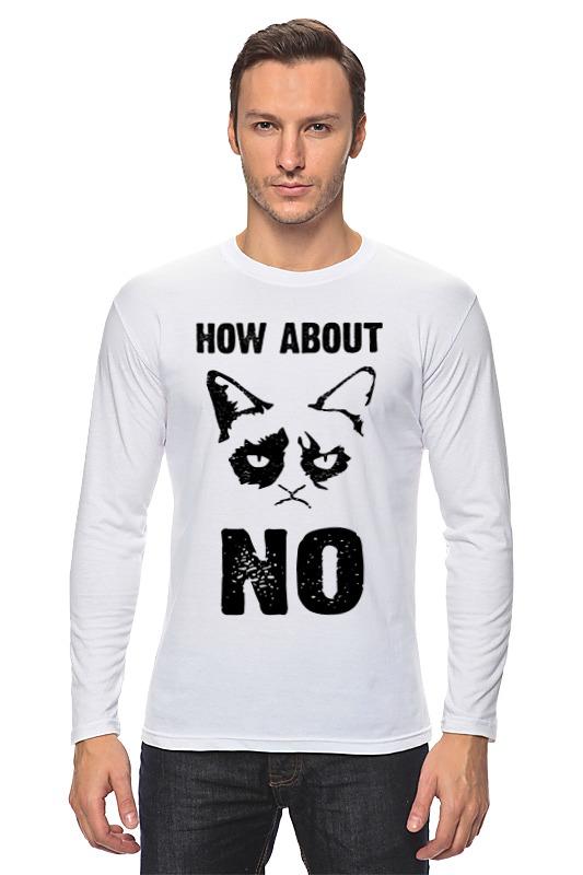 Лонгслив Printio Grumpy cat. how about no?! grumpy gardener