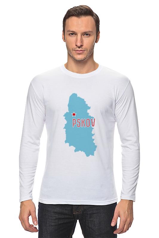 Лонгслив Printio Псковская область псков псковская область автомобильная карта