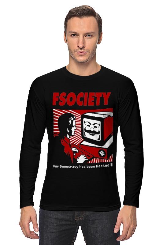 Лонгслив Printio Мистер робот. fsociety цена