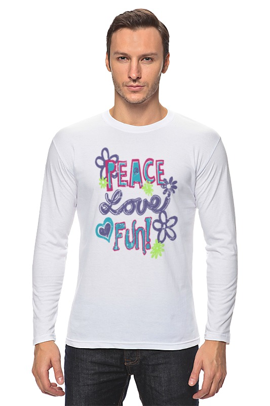 Лонгслив Printio Peace fun лонгслив printio my dad fun stuff