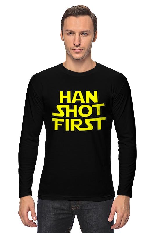 Лонгслив Printio Хан стреляет первым (han shot first) стоимость