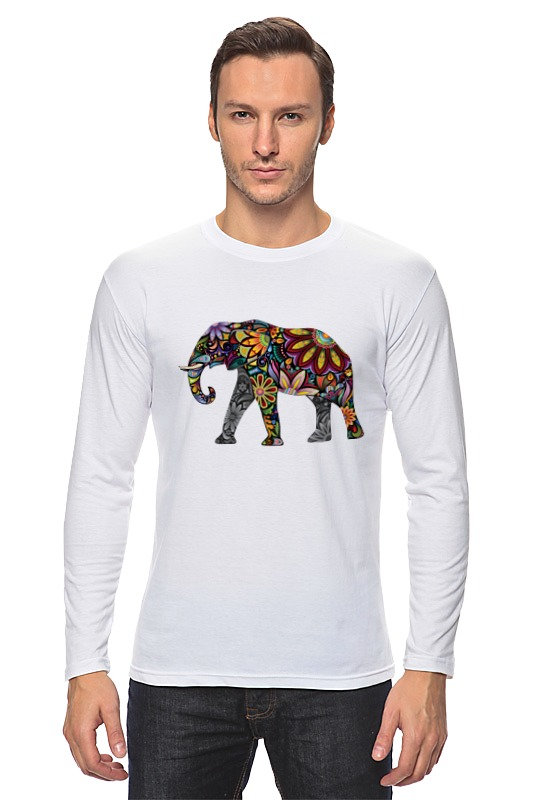 Лонгслив Printio Волшебный слон